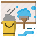 broom, brush, clean, miscellaneous, tools, wash, washing icon