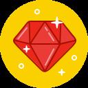 stone, diamond, jewelry, gem, luxury, gemstone, expensive icon