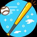 ball, baseball, bat, game, play, sport
