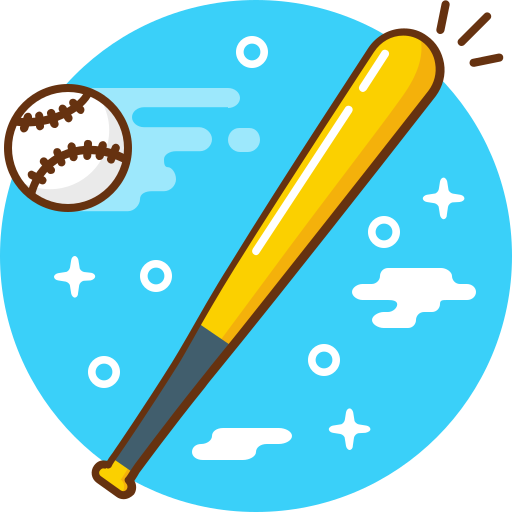 ball, baseball, bat, game, play, sport icon