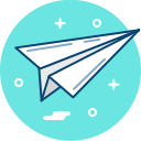 communication, plane, paper, send, mail, origami icon