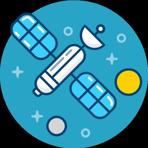 astronomy, gps, satellite, space, transmission icon