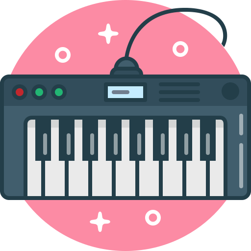 digital, instrument, music, piano, play, synthesizer icon