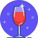 alcohol, bar, drink, glass, red, restaurant, wine icon