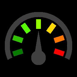 gauge, pressure, reading icon