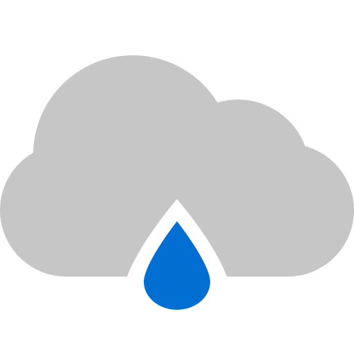 cloud, raindrop icon