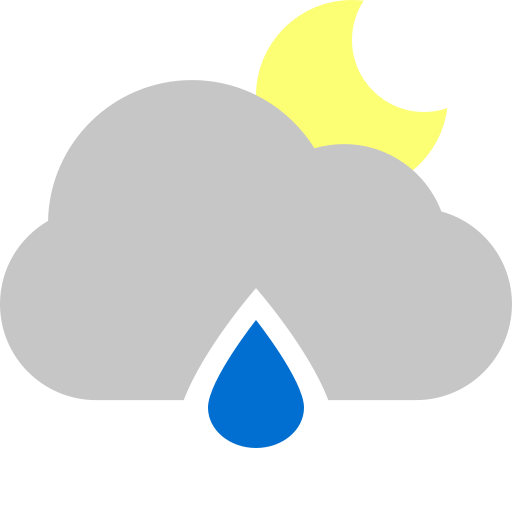 cloud, moon, raindrop icon