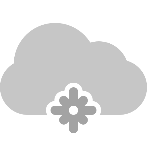 cloud, snowflake icon