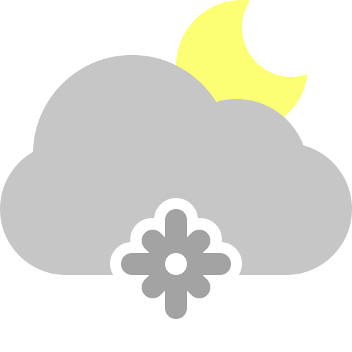 Snowflake, cloud, moon icon - Free download on Iconfinder