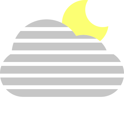 cloud, fog, moon icon