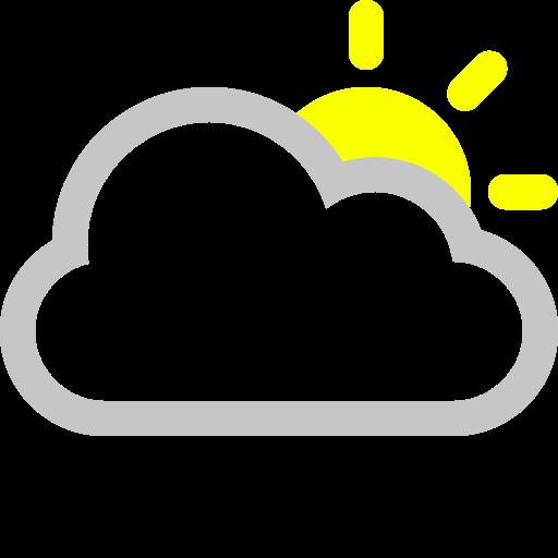 cloud, sun icon