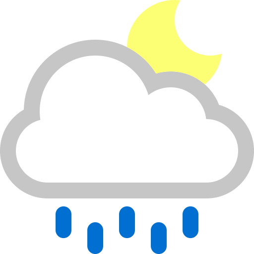 cloud, moon, rain icon