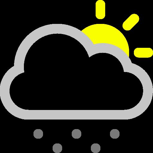 Sun, snow, cloud icon