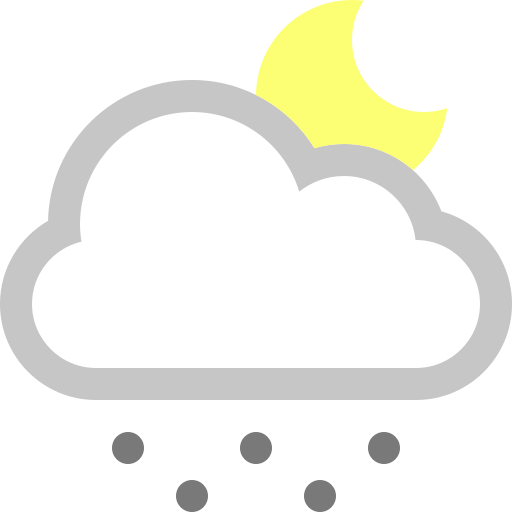 cloud, moon, snow icon