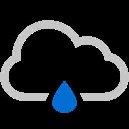 cloud, raindrop icon