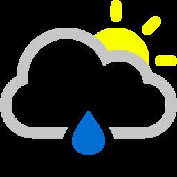 raindrop, sun icon