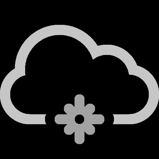 cloud, snowflake icon