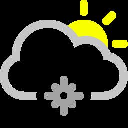 cloud, snowflake, sun icon
