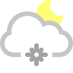 cloud, moon, snowflake icon