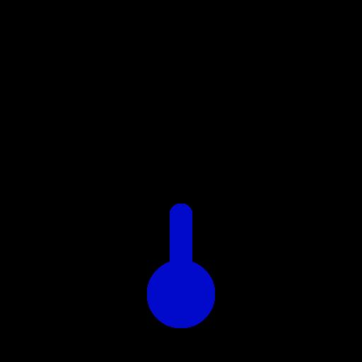 full, quarter, thermometer icon