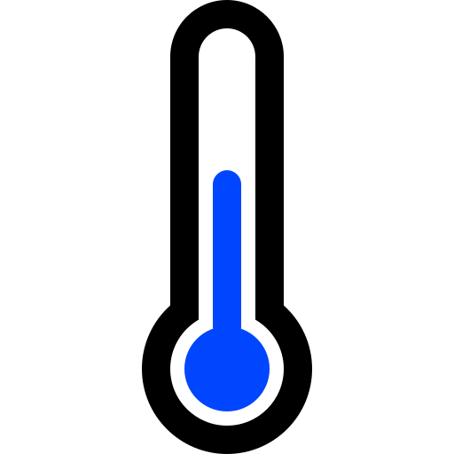full, half, thermometer icon
