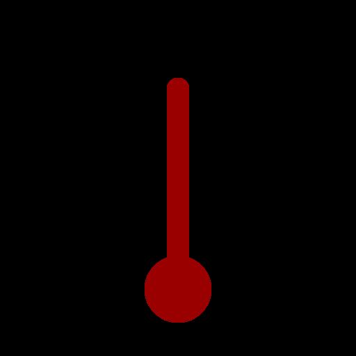 full, quarter, thermometer, three icon