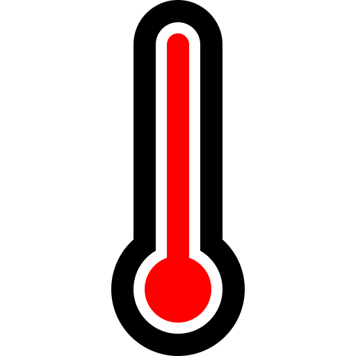 full, thermometer icon