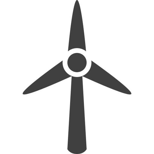 wheel, wind icon