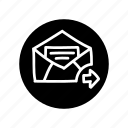 email, freehand, hand drawn, mail, open mail, seo, support icon