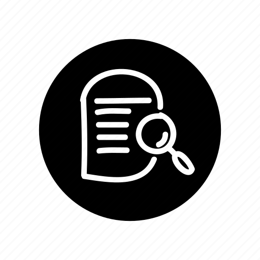consulting, finding, freehand, hand drawn, lens, search file, search note icon