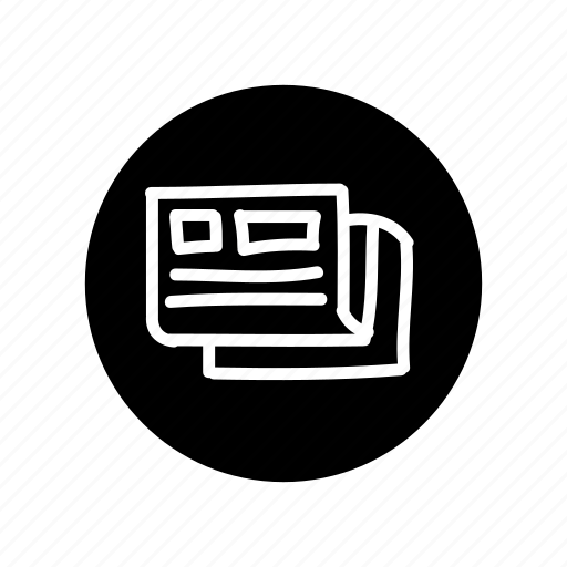 freehand, hand drawn, news, newspaper, press, release icon