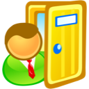 door, exit, sign in icon