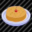 business, cartoon, family, isometric, logo, pancake, retro