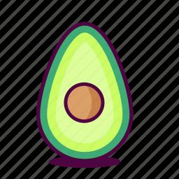 avocado, delicious, fruit, health, healthy, icon, yum icon