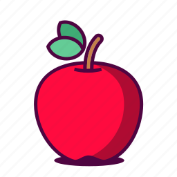apple, fruit, fruity, healthy, icon, juice, red icon