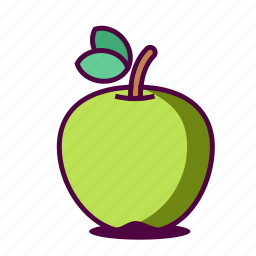 apple, fruit, fruity, green, healthy, icon, juice icon