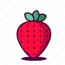 dessert, fruit, fruity, health, healthy, icon, strawberries icon