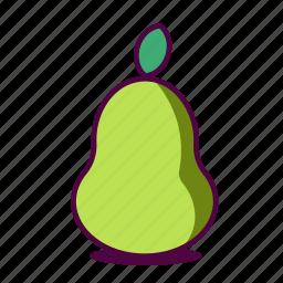 fruit, fruity, healthy, icon, juice, juicy, pear icon