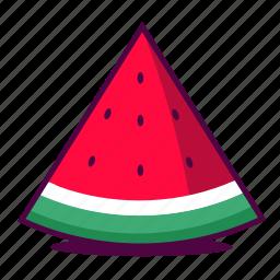 fresh, fruit, icon, juice, seeds, summer, watermelon icon