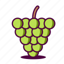 fruit, fruity, grape, grapes, icon, summer icon