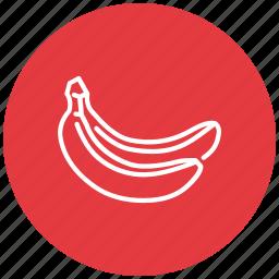 banana, bananas, food, fresh, fruit icon