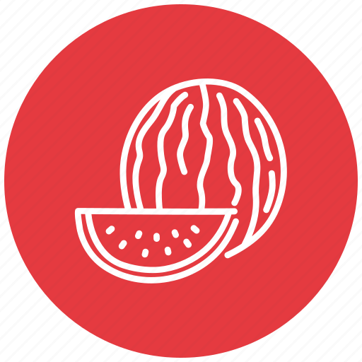 food, fresh, fruit, melon, water, watermelon icon