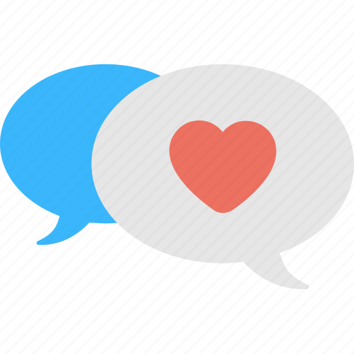 Comments, conversation, heart, love, speech bubble icon - Download on Iconfinder