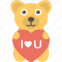 i love you, heart, teddy bear, toy
