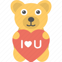 heart, i love you, teddy bear, toy icon