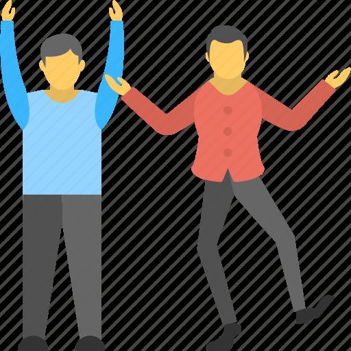 dancing guys, entertaining, fun, funny lads, performance icon