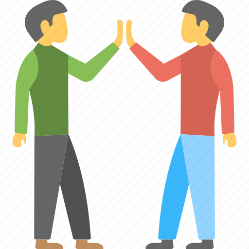 friends, fun clapping, fun mood, high five, togetherness icon