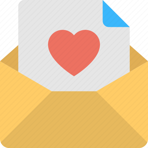 greetings, heart, letter, love, valentine day icon
