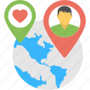 heart map locator, destination, internet love, global location, love connection