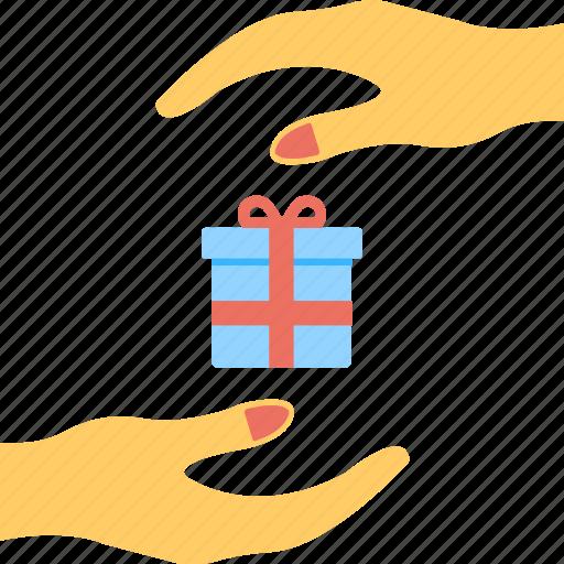 birthday, celebrations, festive, gift sharing, wrapping box icon